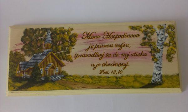 Ručne maľované drevené tabuľky