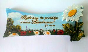 Ručne maľované drevené tabuľky - Požehnaný, kto prichádza...